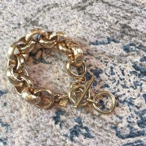 Banana Republic gold tone chain link bracelet